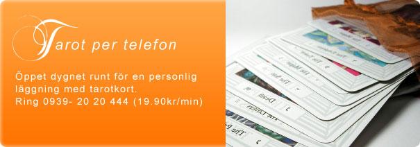 Tarot per telefon - Öppet dygnet runt för en personlig läggning med tarotkort